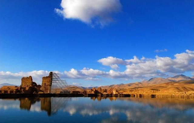Takhte soleyman il tempio di fuoco antico