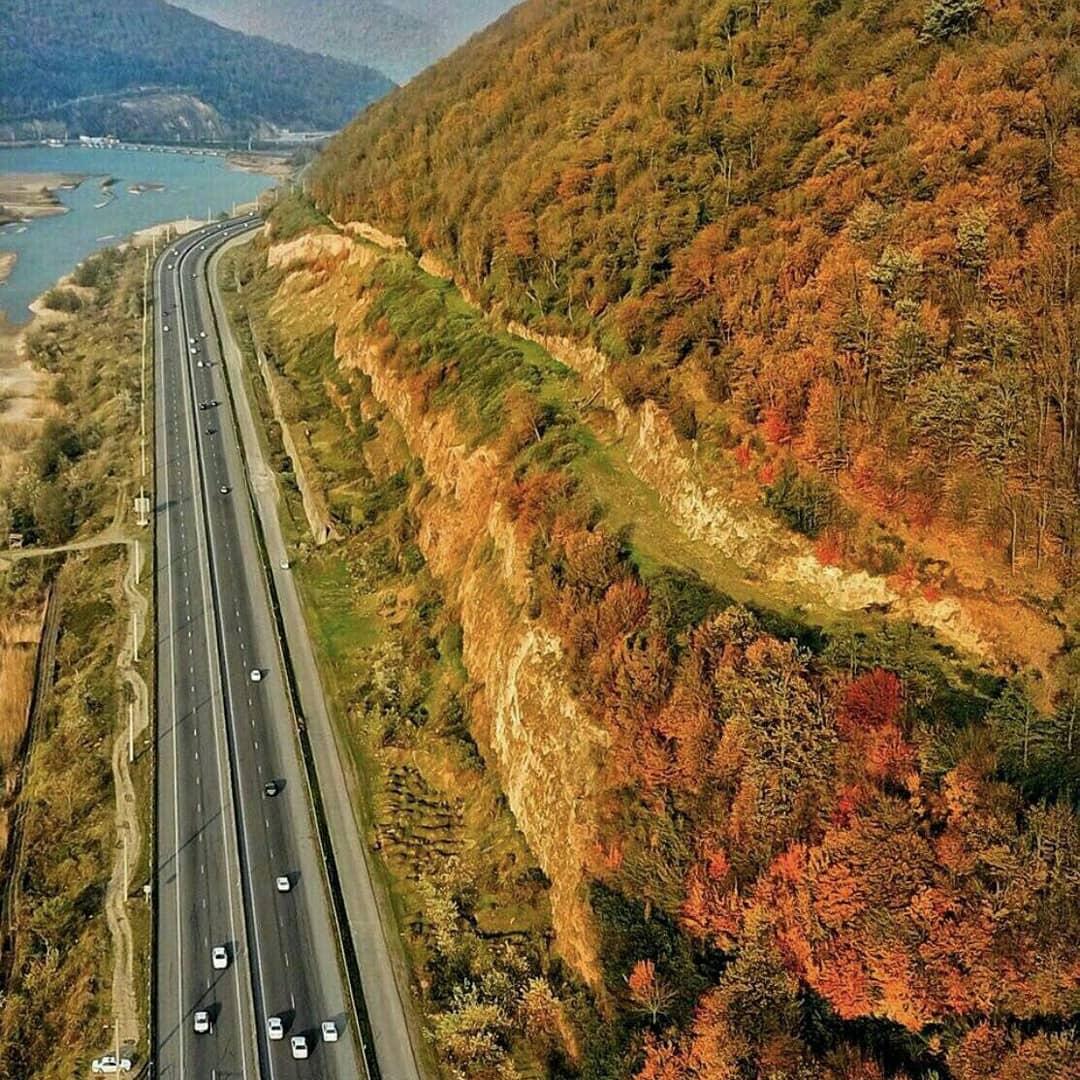 strada di nord Iran
